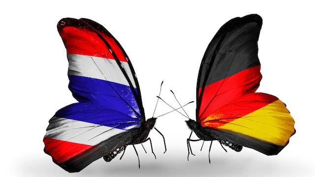 Schmetterlinge als Zeichen der Freundschaft zwischen Deutschland und Thailand